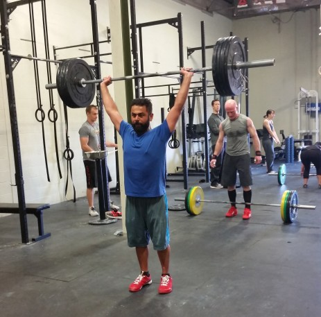 Arash participating in his first fun Crossfit Competition!